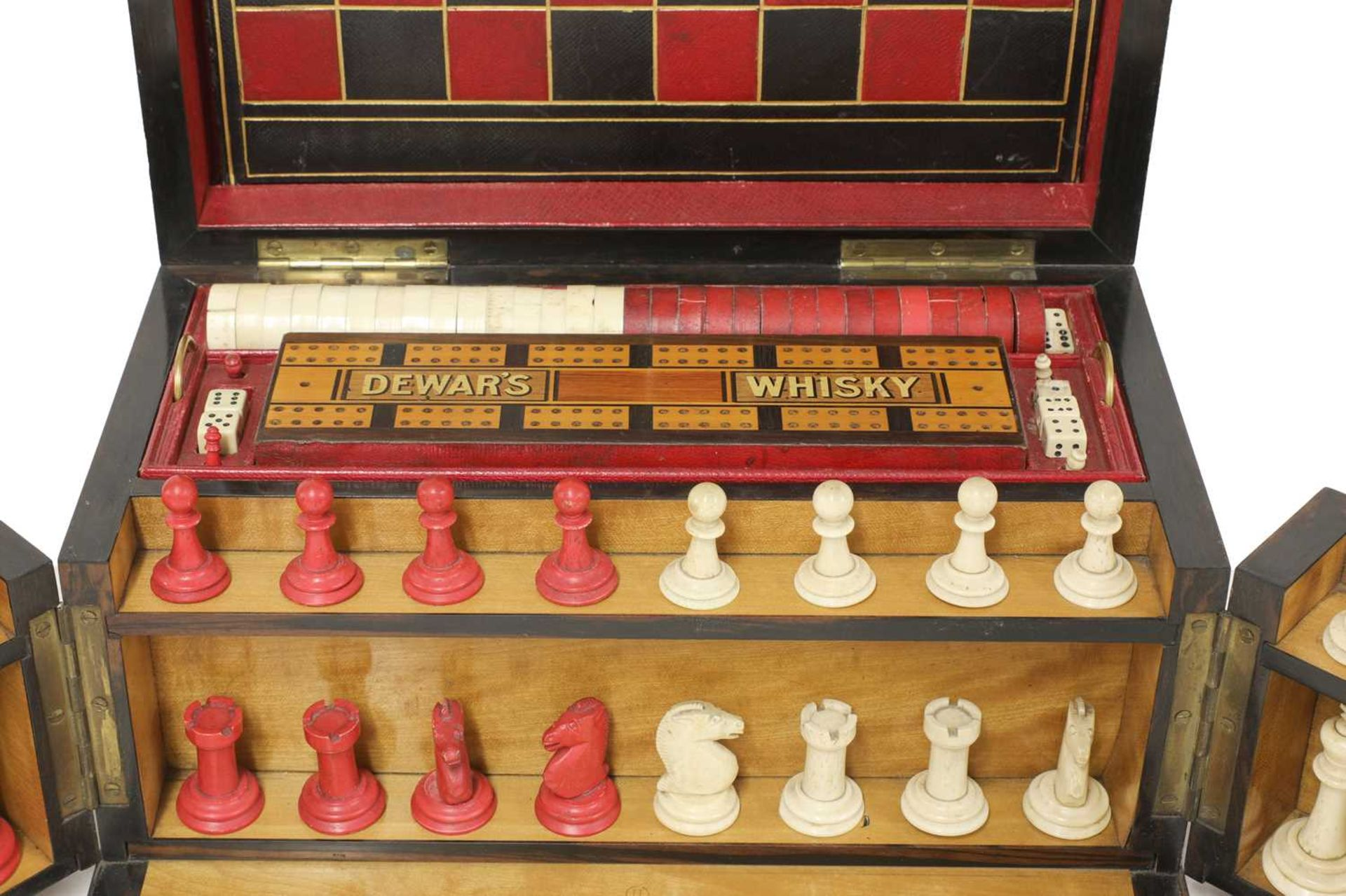 A Victorian coromandel cased games compendium, - Image 2 of 8