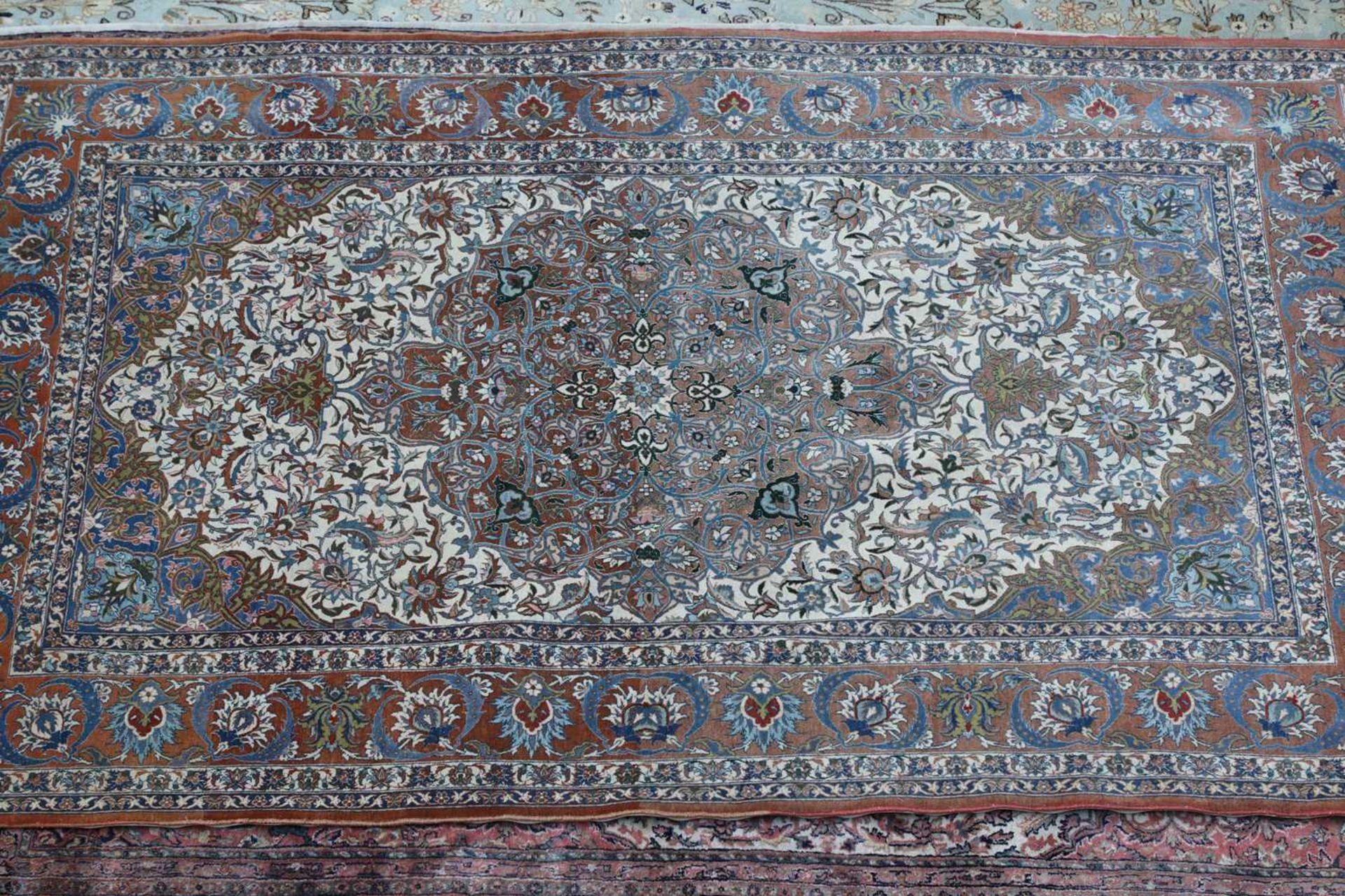 A Persian Kashan rug, - Image 2 of 3