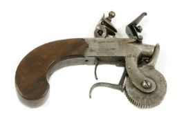 A box-lock flintlock Eprouvette steel action powder tester