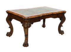 A goncalo alves library table,
