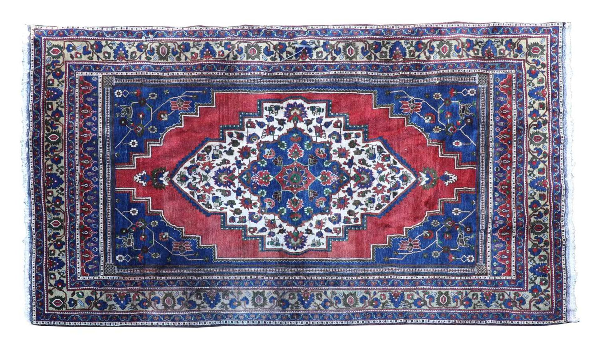An Anatolian blue ground carpet,