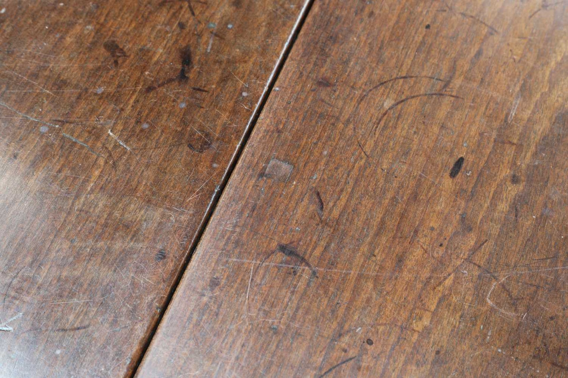 A rare, large and documented, oak and mahogany gateleg dining table, - Image 6 of 16