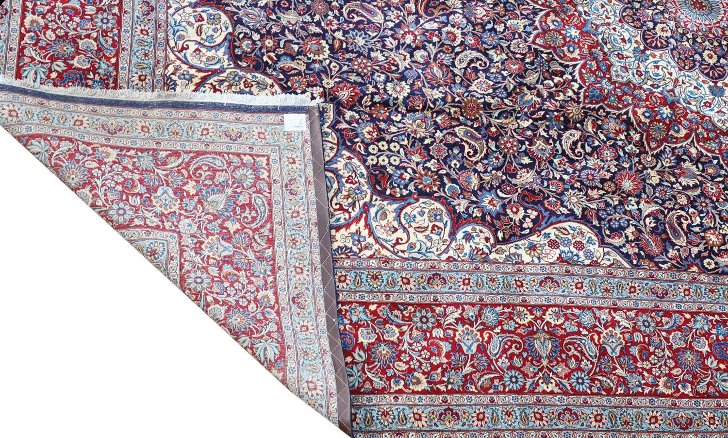 A large Persian Khorassan carpet, - Image 4 of 17