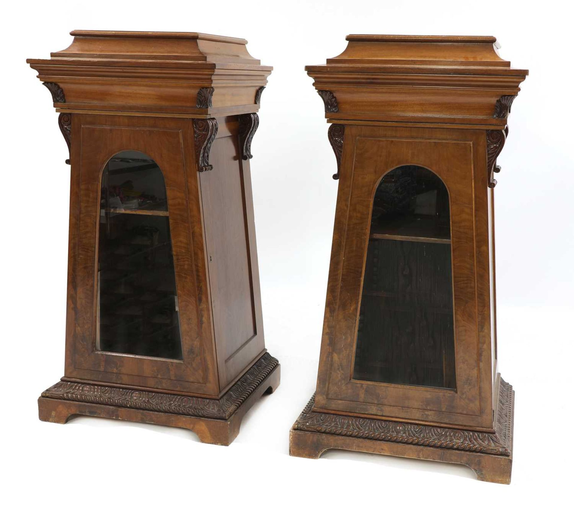 A pair of Victorian mahogany library bookcase pedestals, - Image 2 of 13