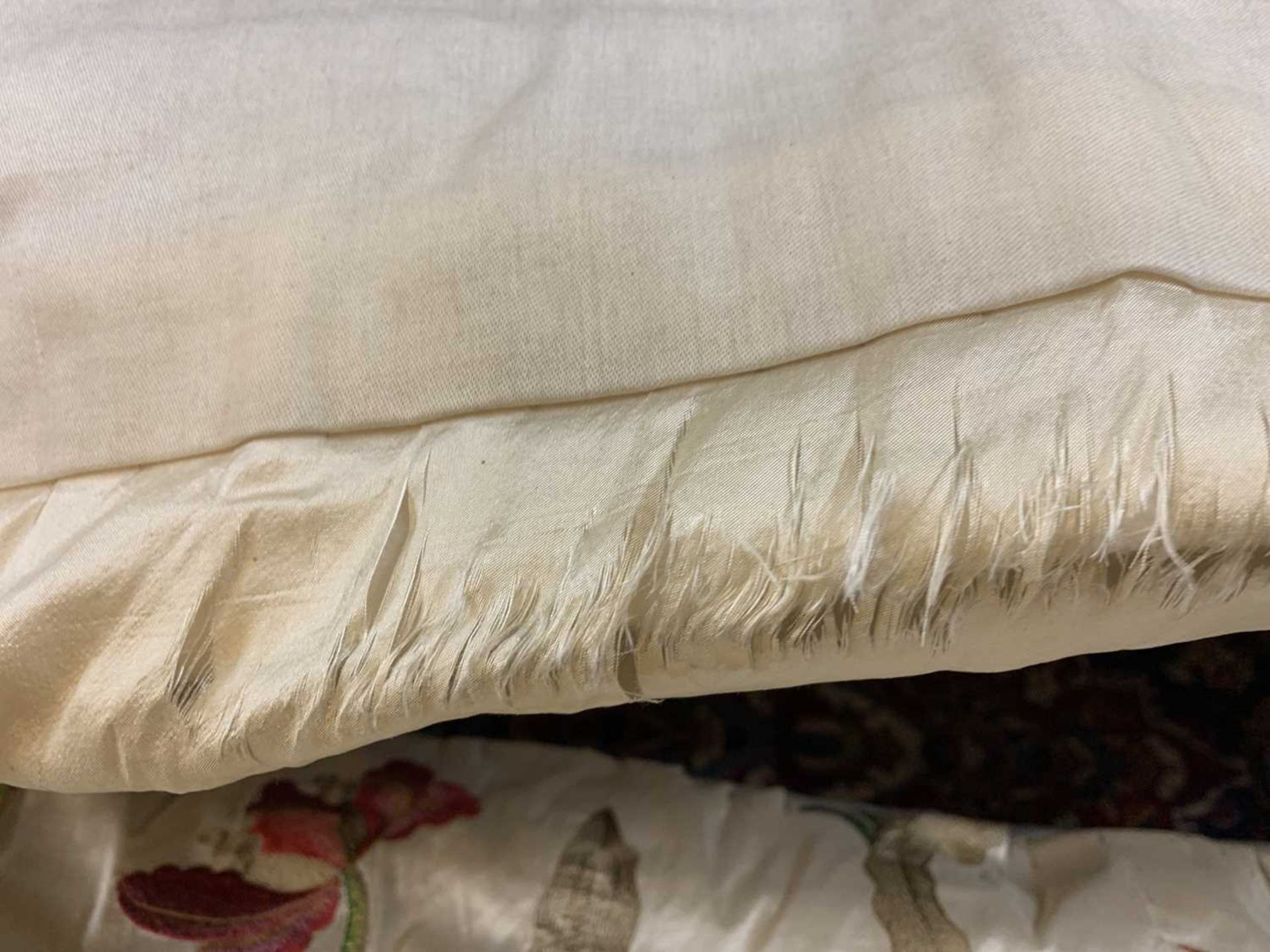 Three pairs of lined and interlined silk curtains, - Image 27 of 62