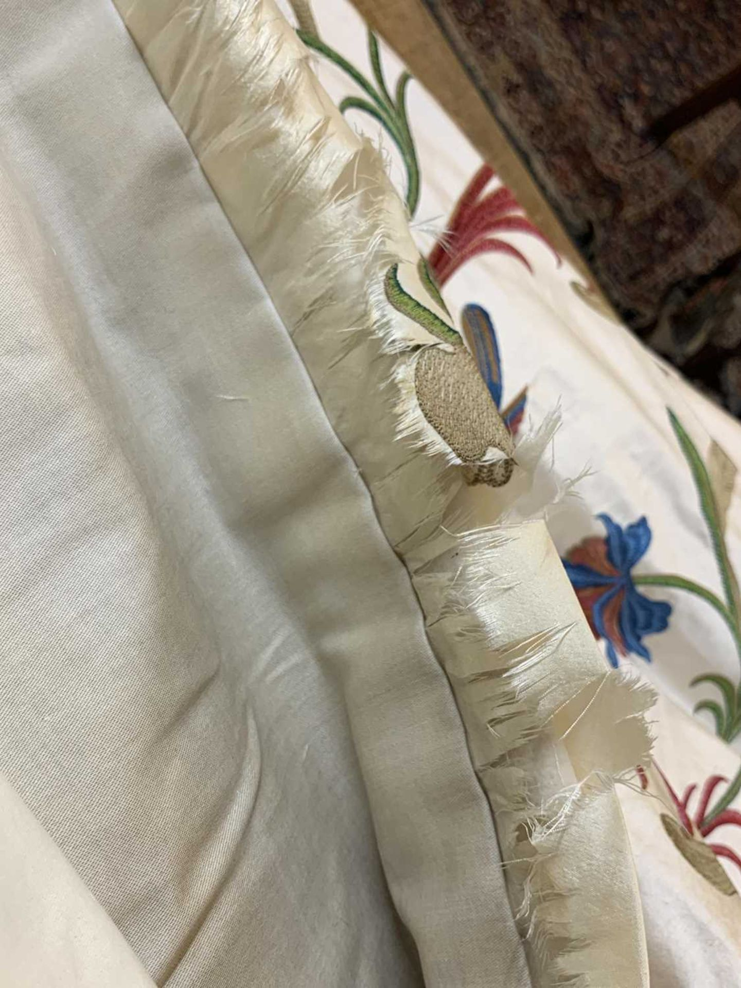 Three pairs of lined and interlined silk curtains, - Image 33 of 62