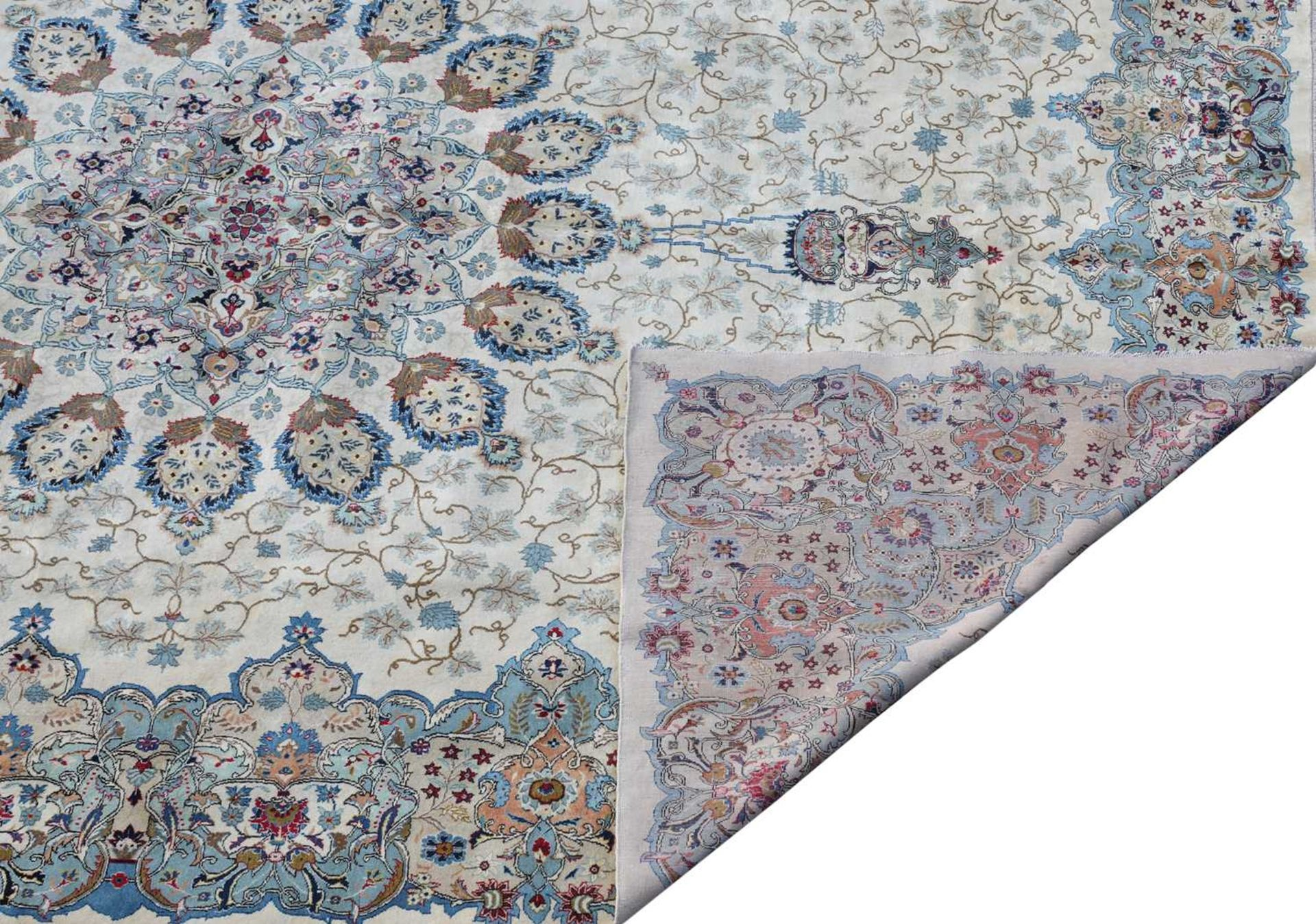A Persian Kashan carpet, - Image 3 of 3