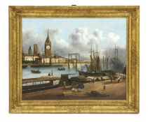 A Continental clock painting,