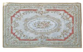 A needlepoint carpet of Aubusson design,