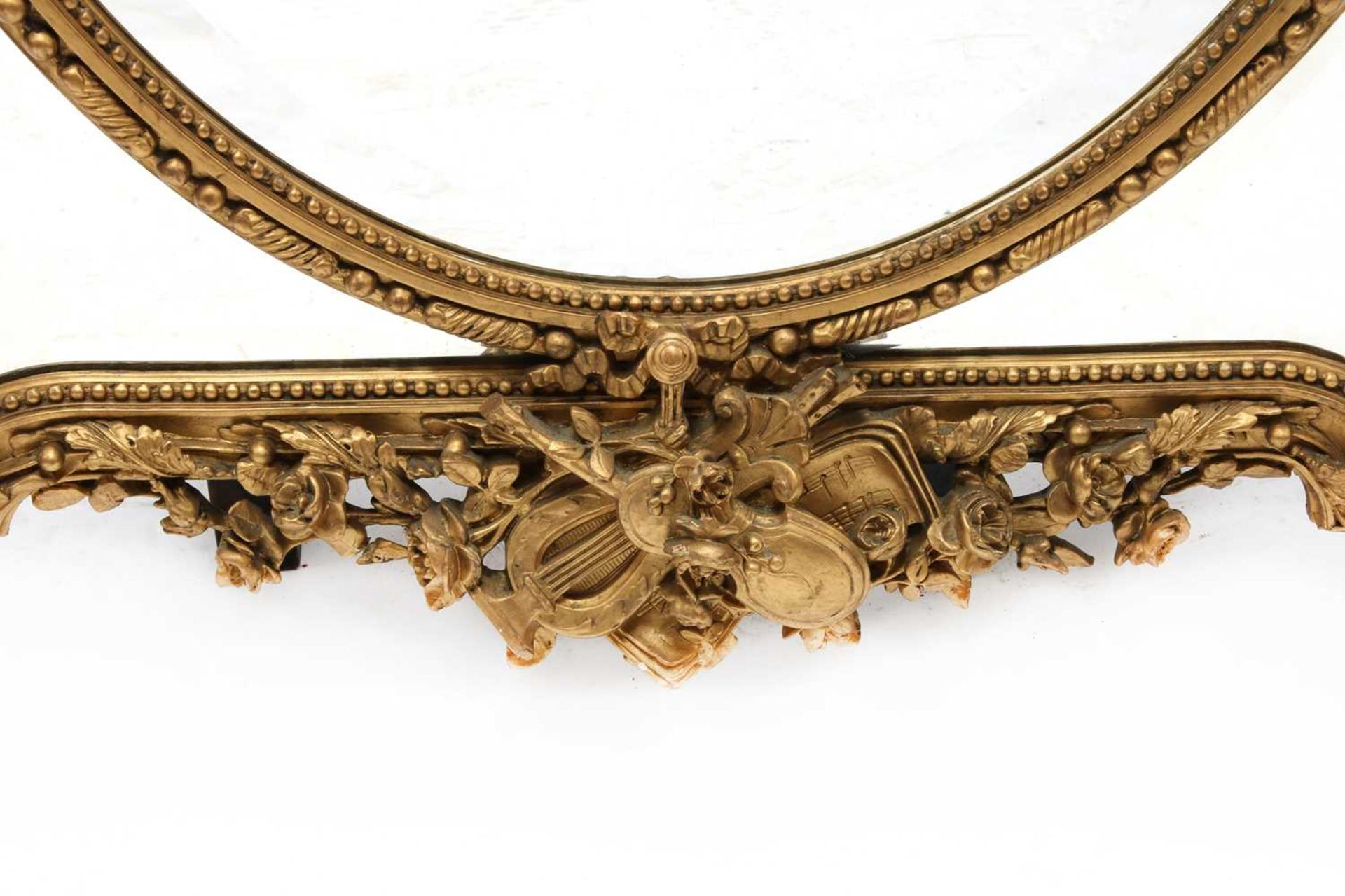 A French gilt gesso wall mirror, - Image 8 of 15