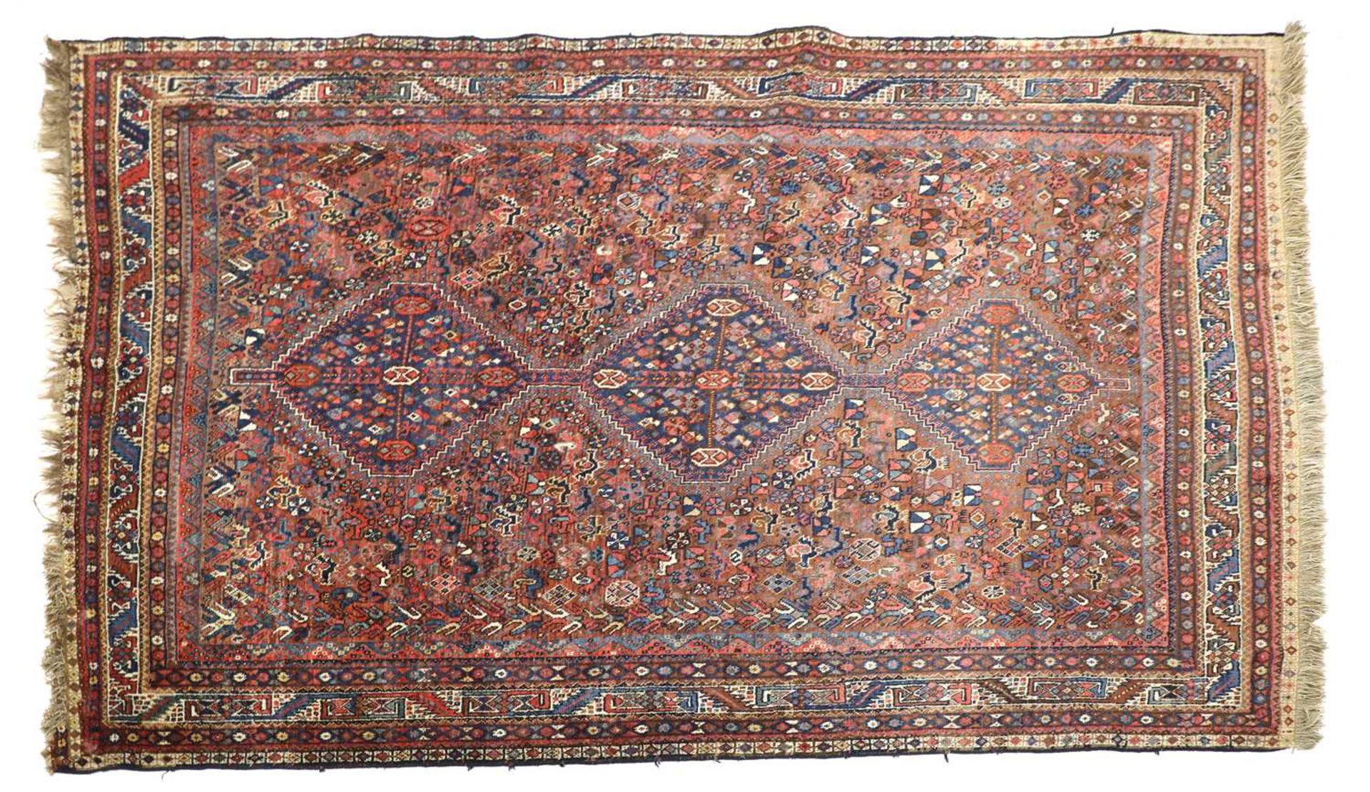 A South West Persian Khamseh carpet,