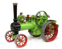 A live steam traction engine,