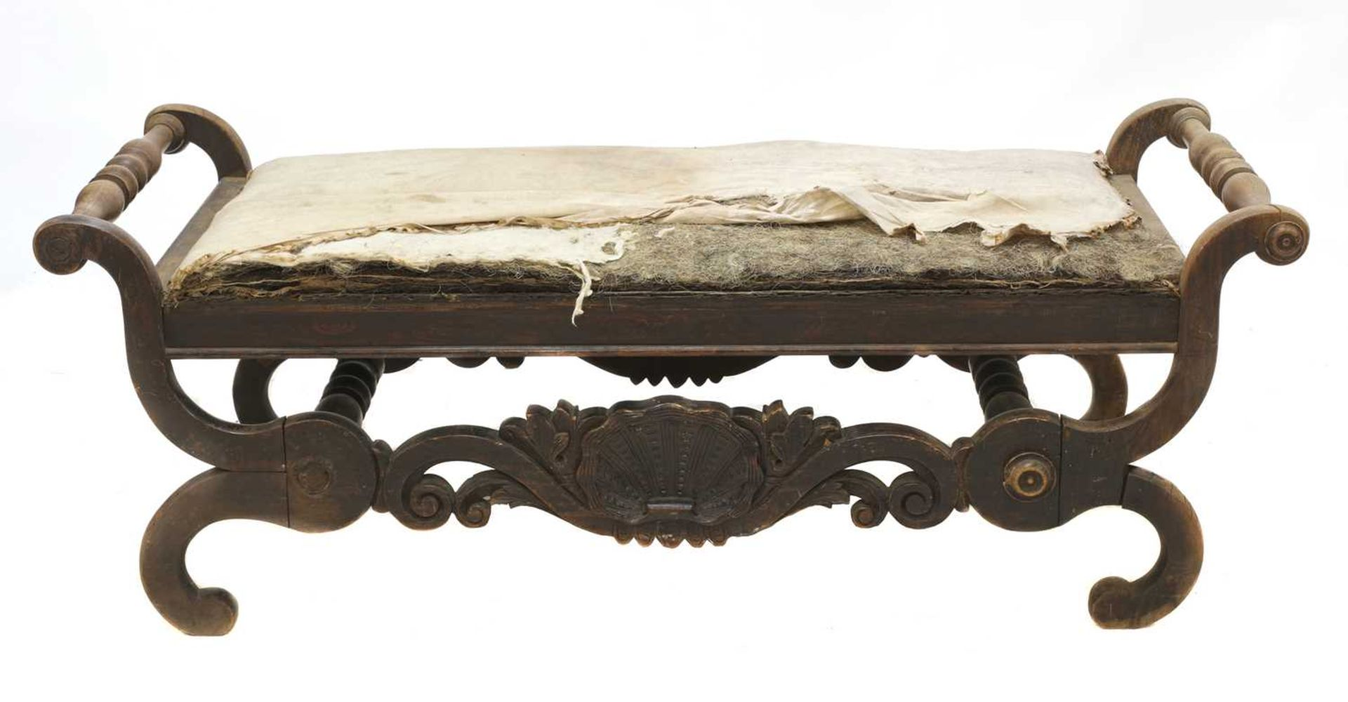 A Continental simulated rosewood window seat, - Image 4 of 10