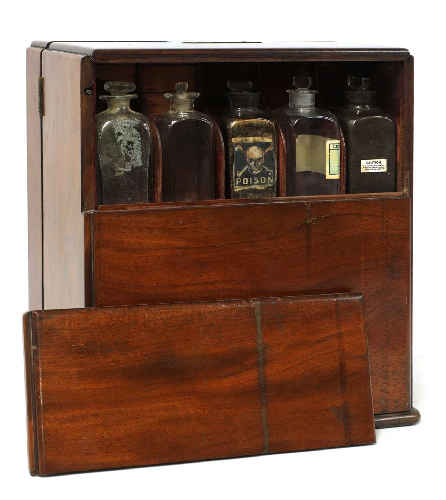 A mahogany cased travelling apothecary cabinet, - Image 3 of 5