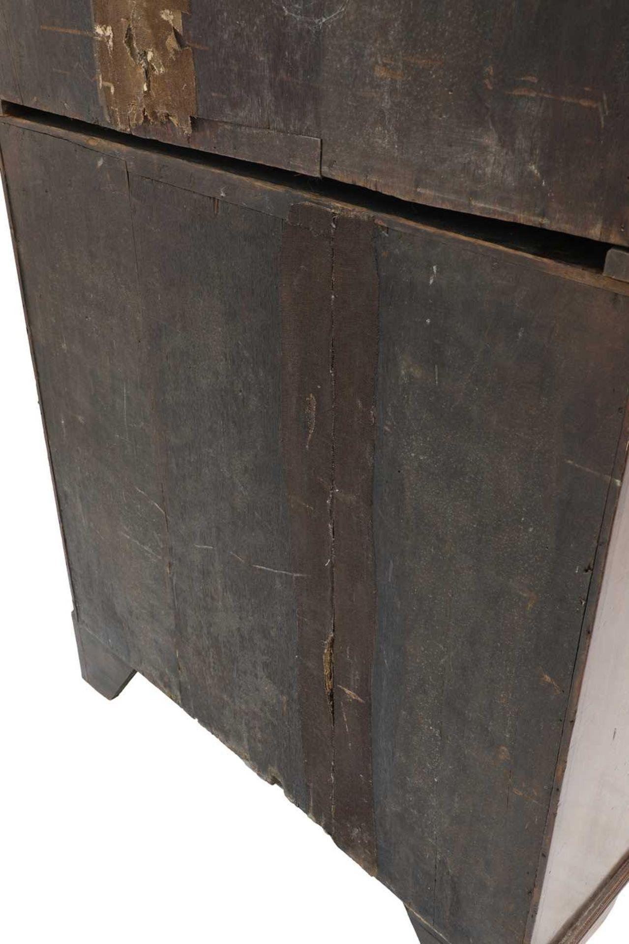 A George III mahogany bureau bookcase, - Image 4 of 6