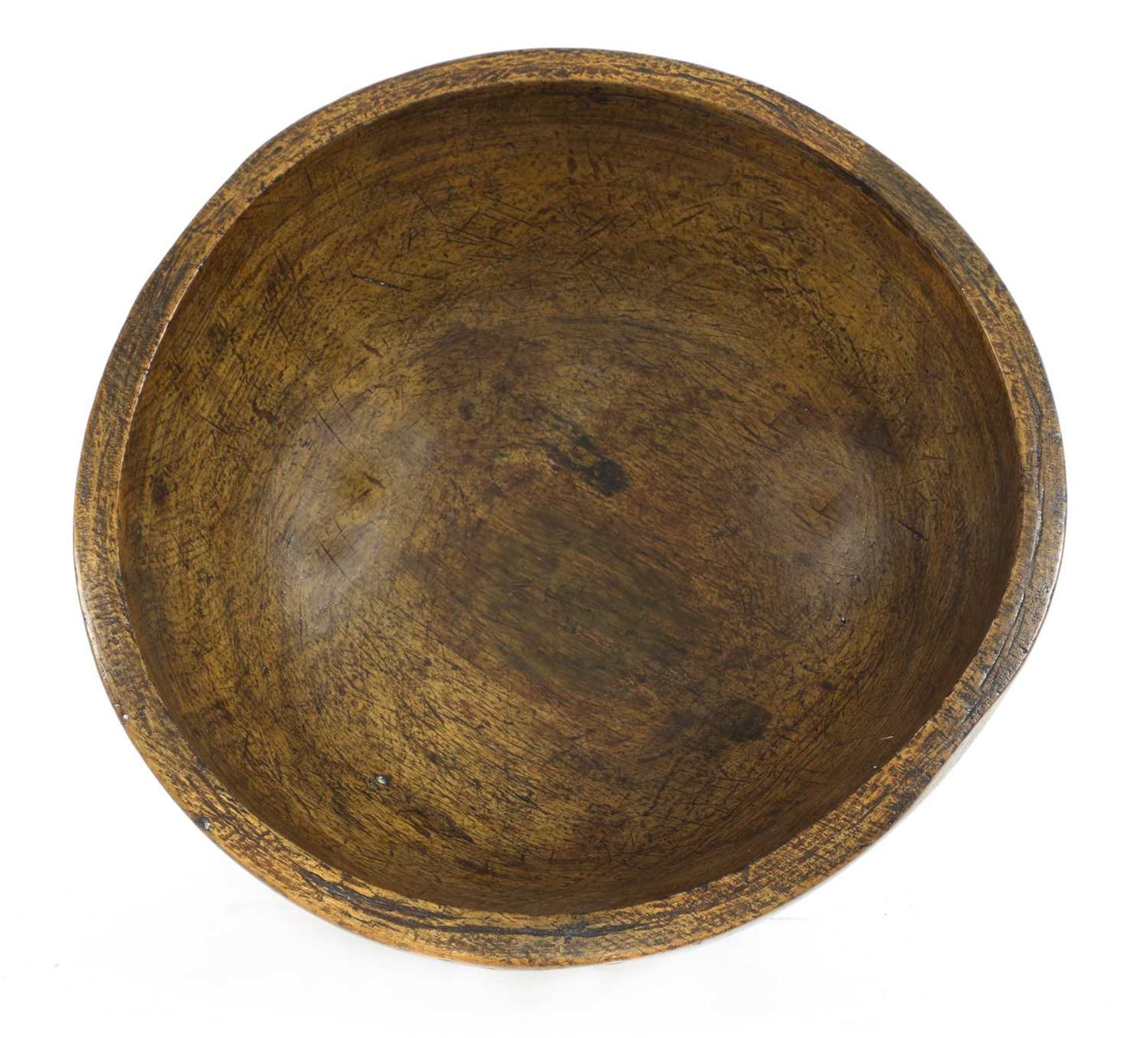 A large sycamore dairy bowl, - Image 2 of 4