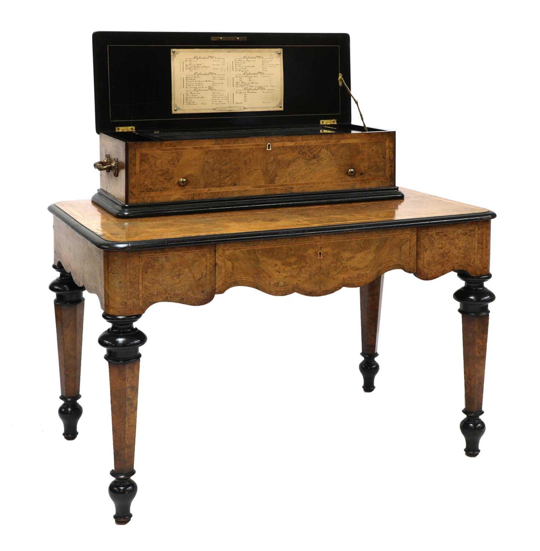 A Swiss interchangeable cylinder musical box,