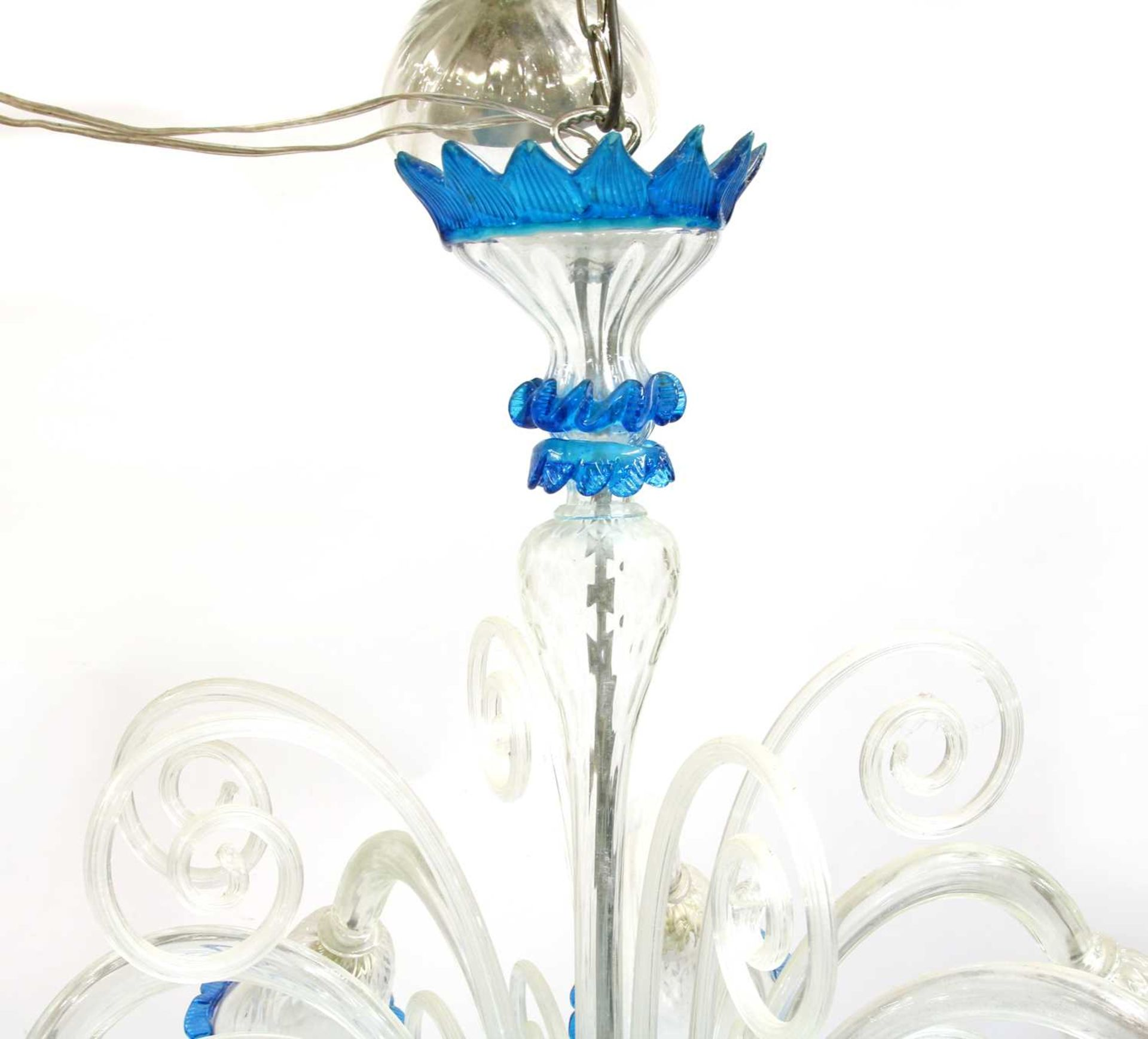 A Murano glass chandelier, - Image 2 of 5