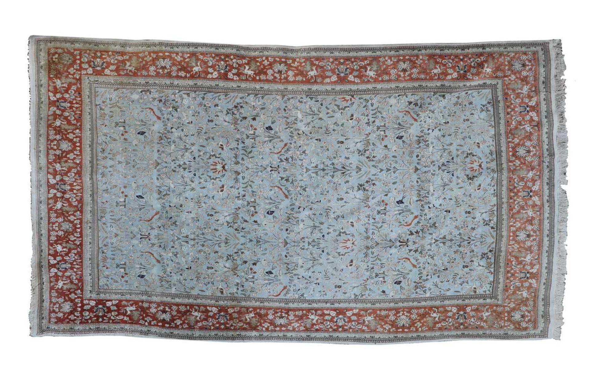 A large Persian carpet,