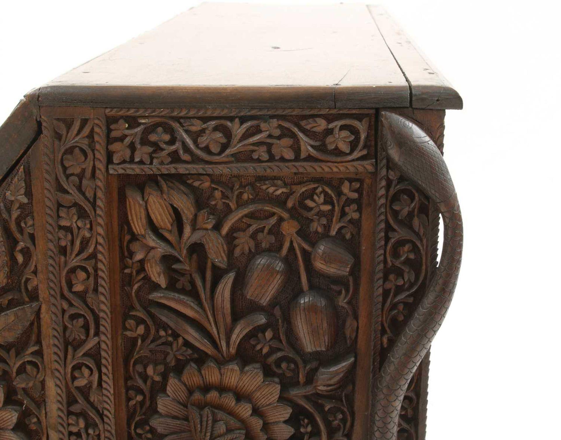 An Anglo-Indian rosewood bureau, - Image 8 of 10