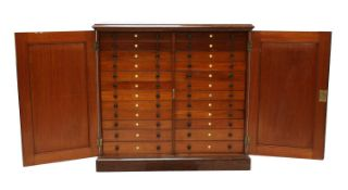 A large Victorian mahogany collector's cabinet,