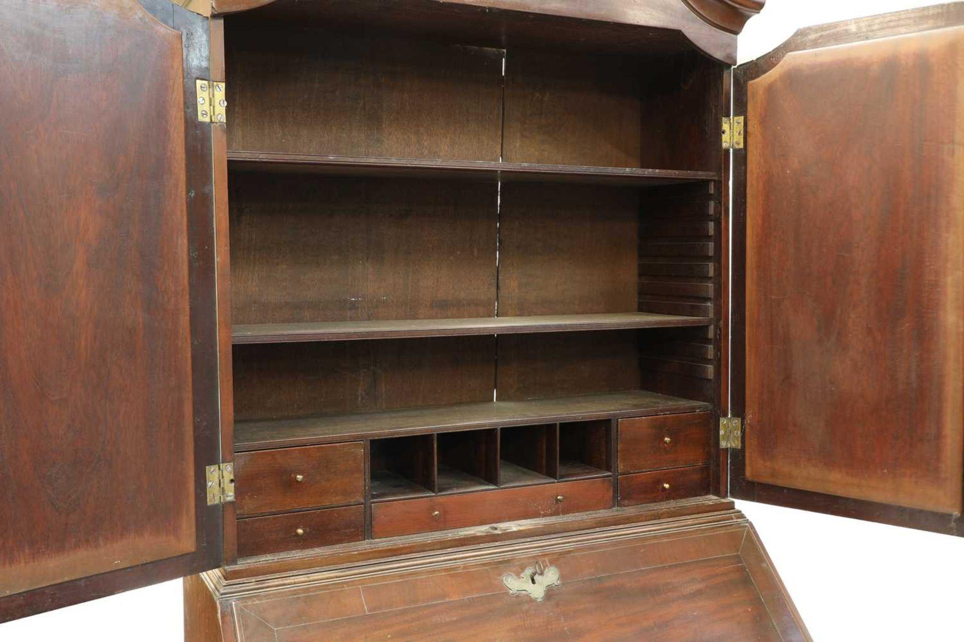 A George III mahogany bureau bookcase, - Image 6 of 6
