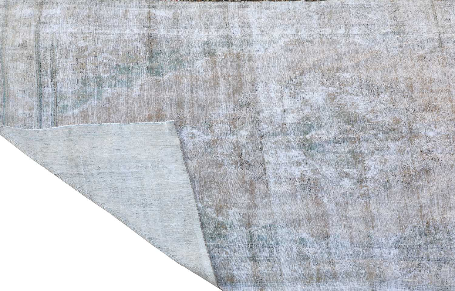 A vintage Persian overdyed carpet, - Image 2 of 2