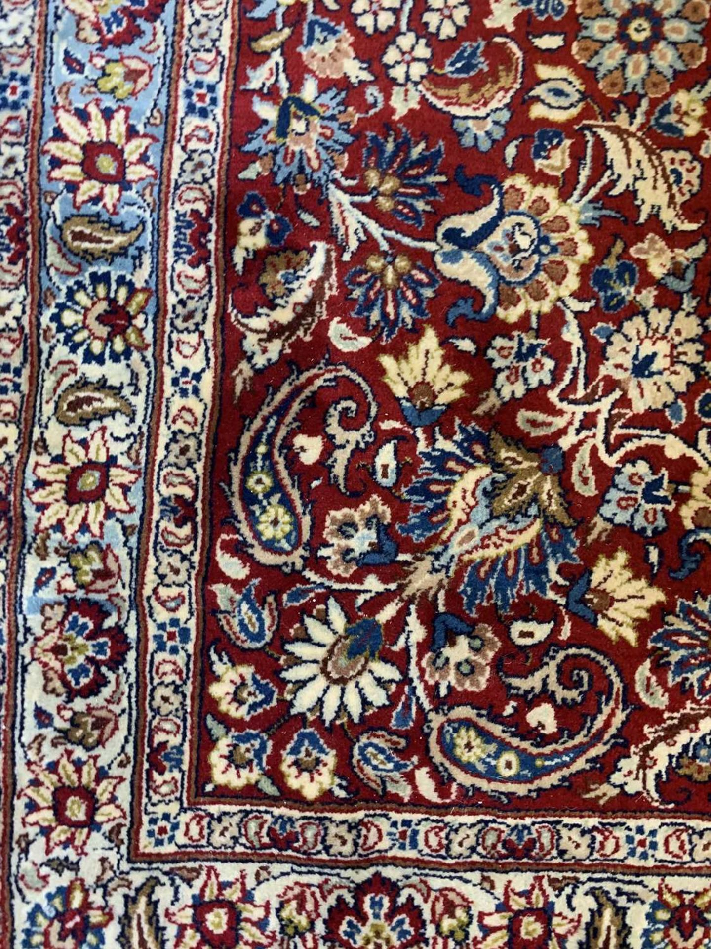 A large Persian Khorassan carpet, - Image 9 of 17