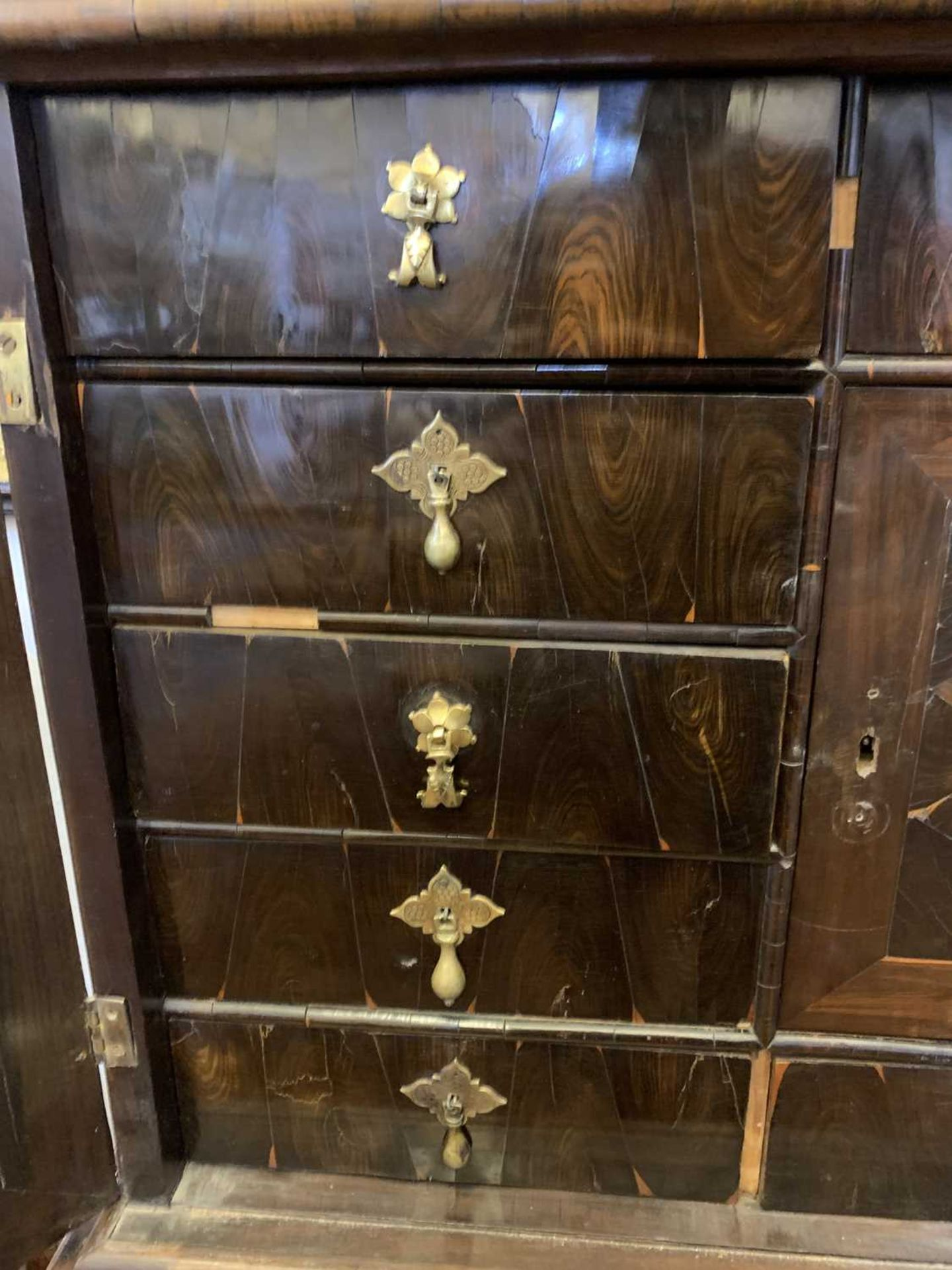 A Queen Anne cocus wood cabinet, - Image 20 of 42