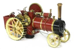 A ¾in scale model Burrell-type live steam traction engine,