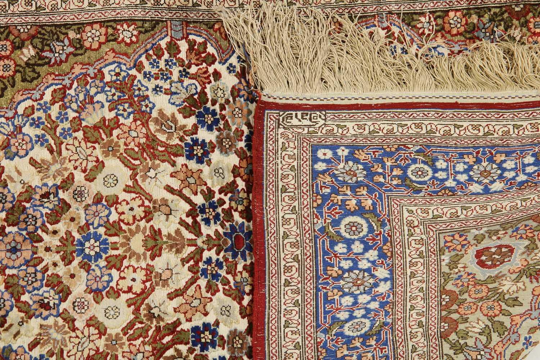 A Turkish silk and metal Hereke rug - Image 2 of 2