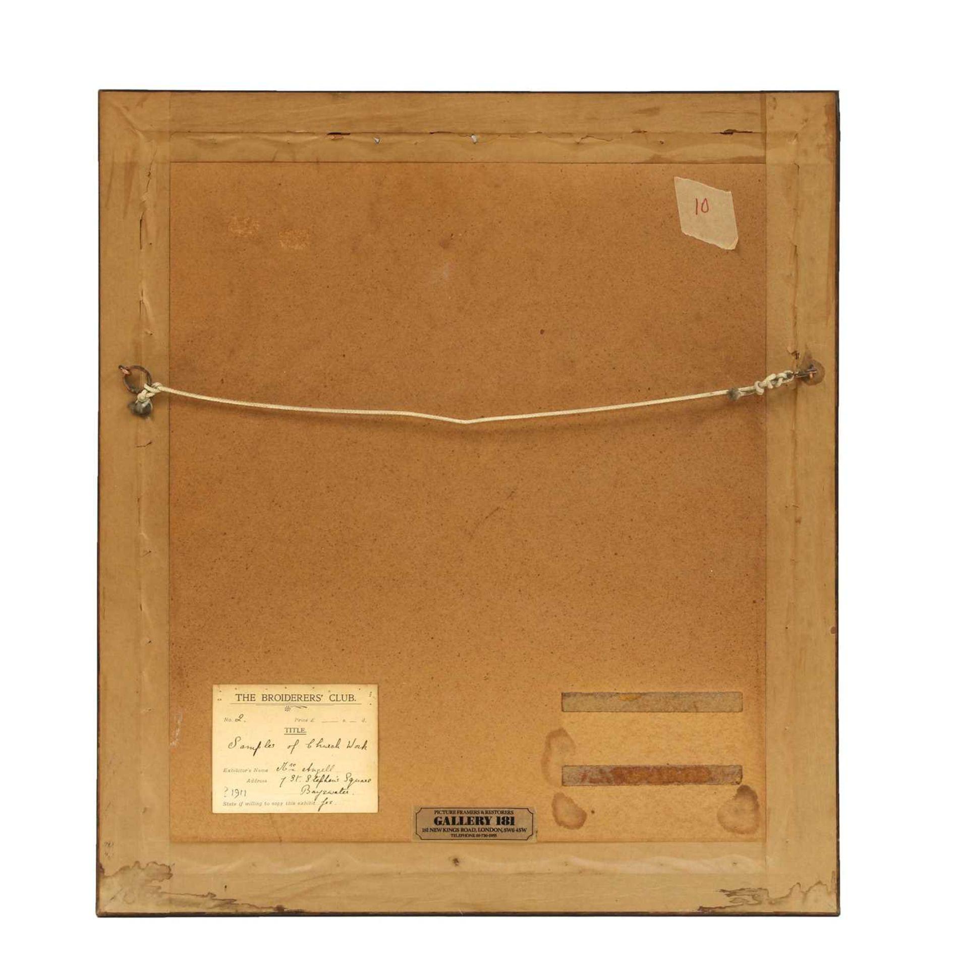 A framed goldwork embroidery sampler, - Image 2 of 2