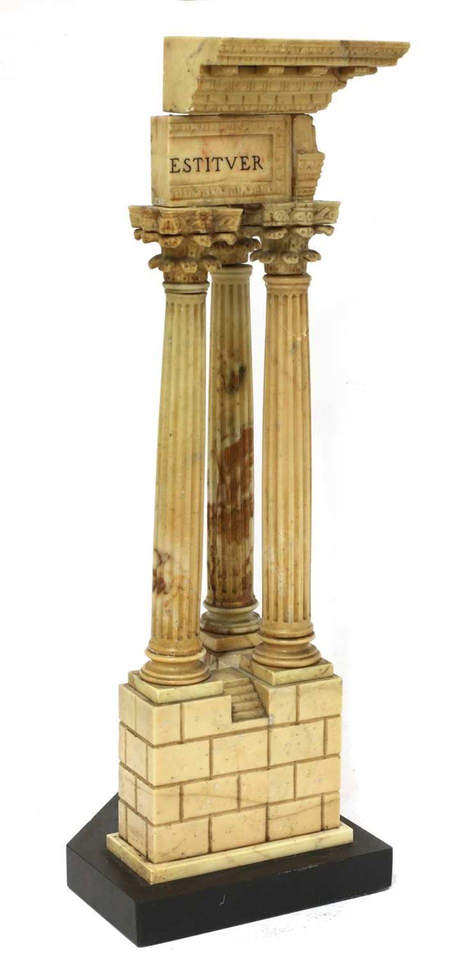 An Italian grand tour giallo antico marble souvenir, - Image 2 of 4
