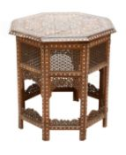 An Indian folding table,