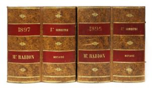 A pair of French book boxes,