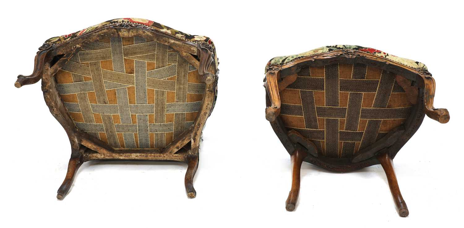 A French walnut-framed armchair, - Image 4 of 4