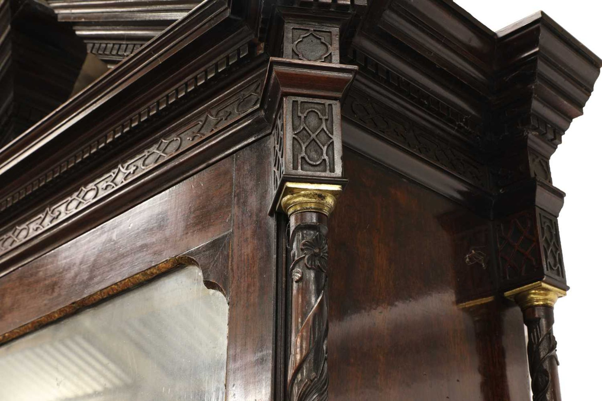 A Chippendale period mahogany secretaire bookcase, - Image 7 of 9