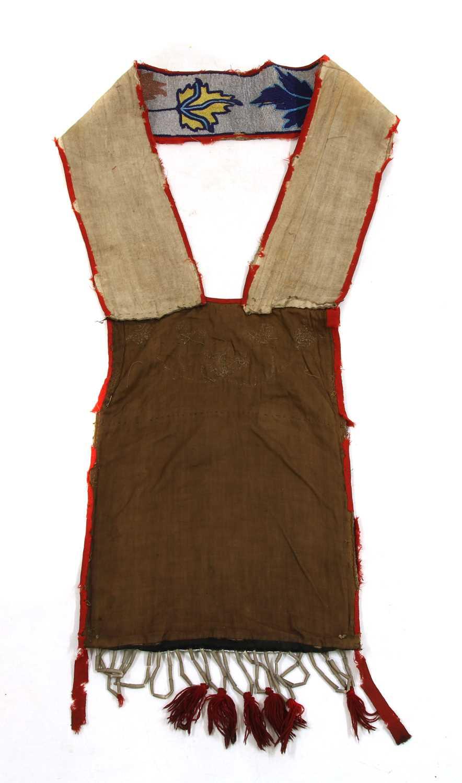 A Native American Great Lakes beadwork bandolier or bag, - Image 2 of 2