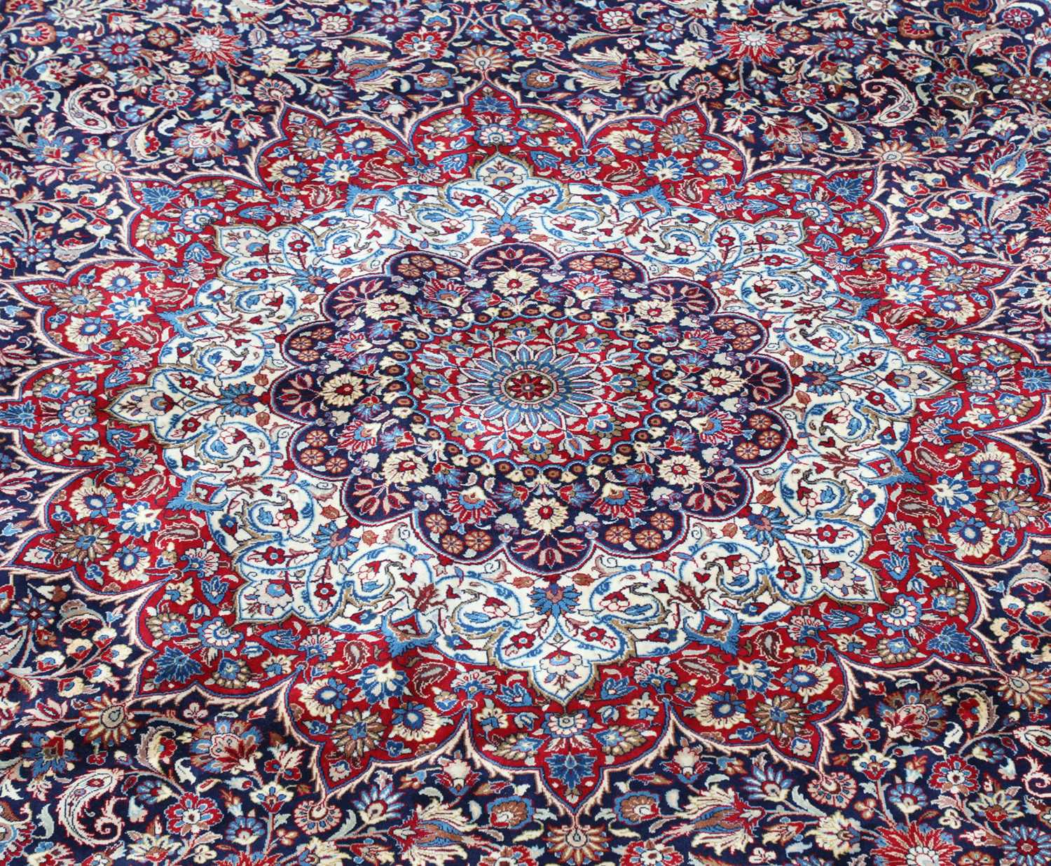 A large Persian Khorassan carpet, - Image 2 of 17