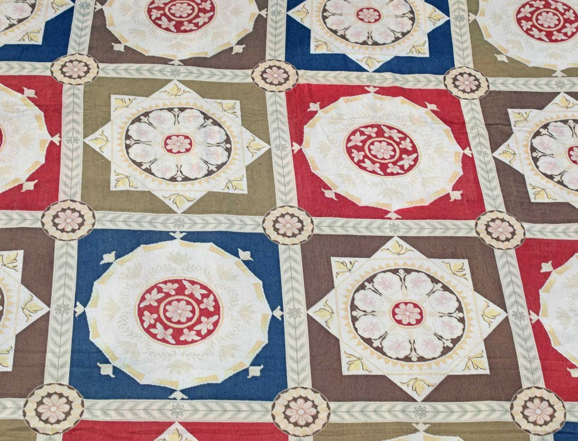 A handwoven needlepoint rug of 17th century Savonnerie design, - Image 2 of 3