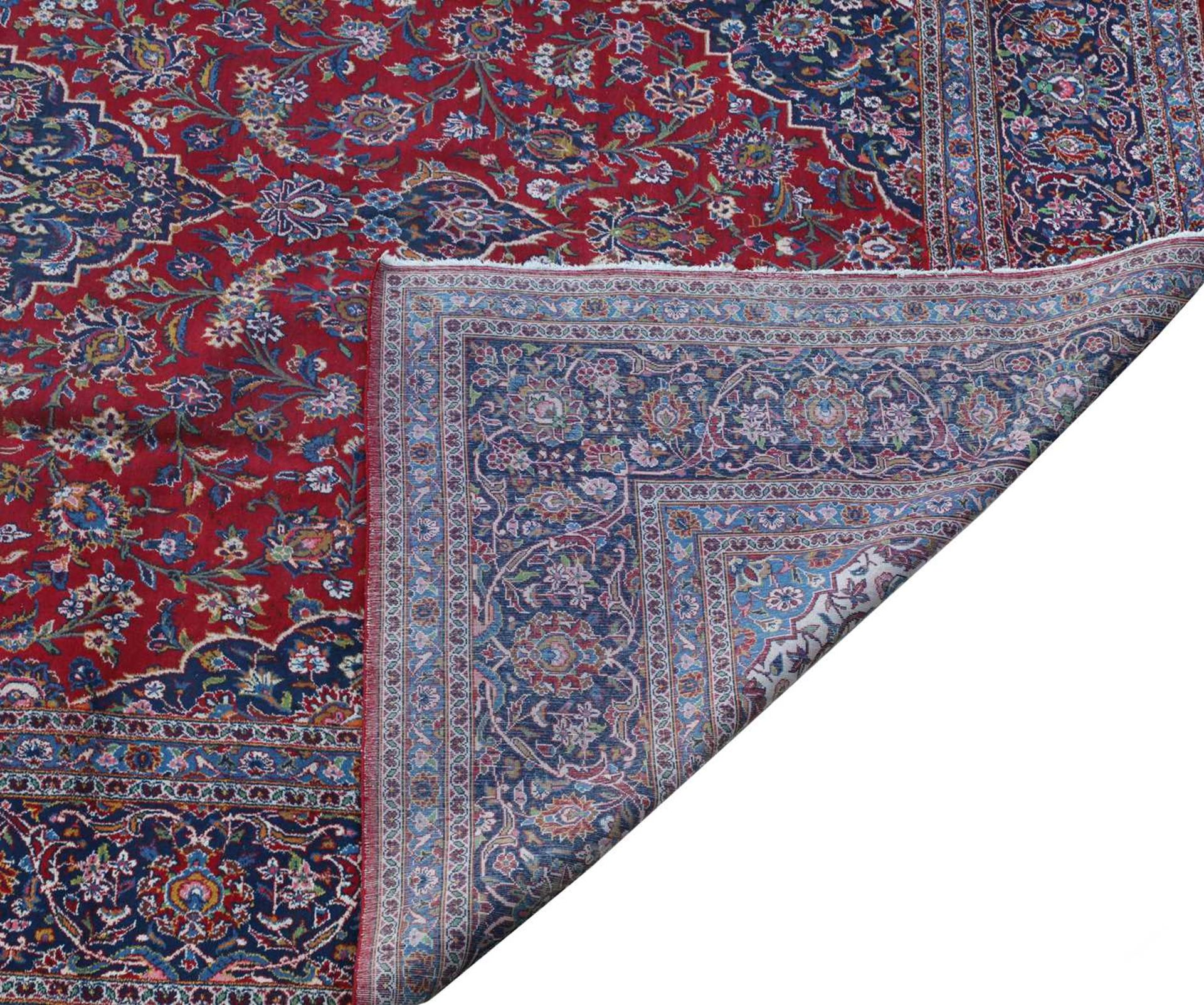 A large Persian Kashan carpet, - Image 3 of 3