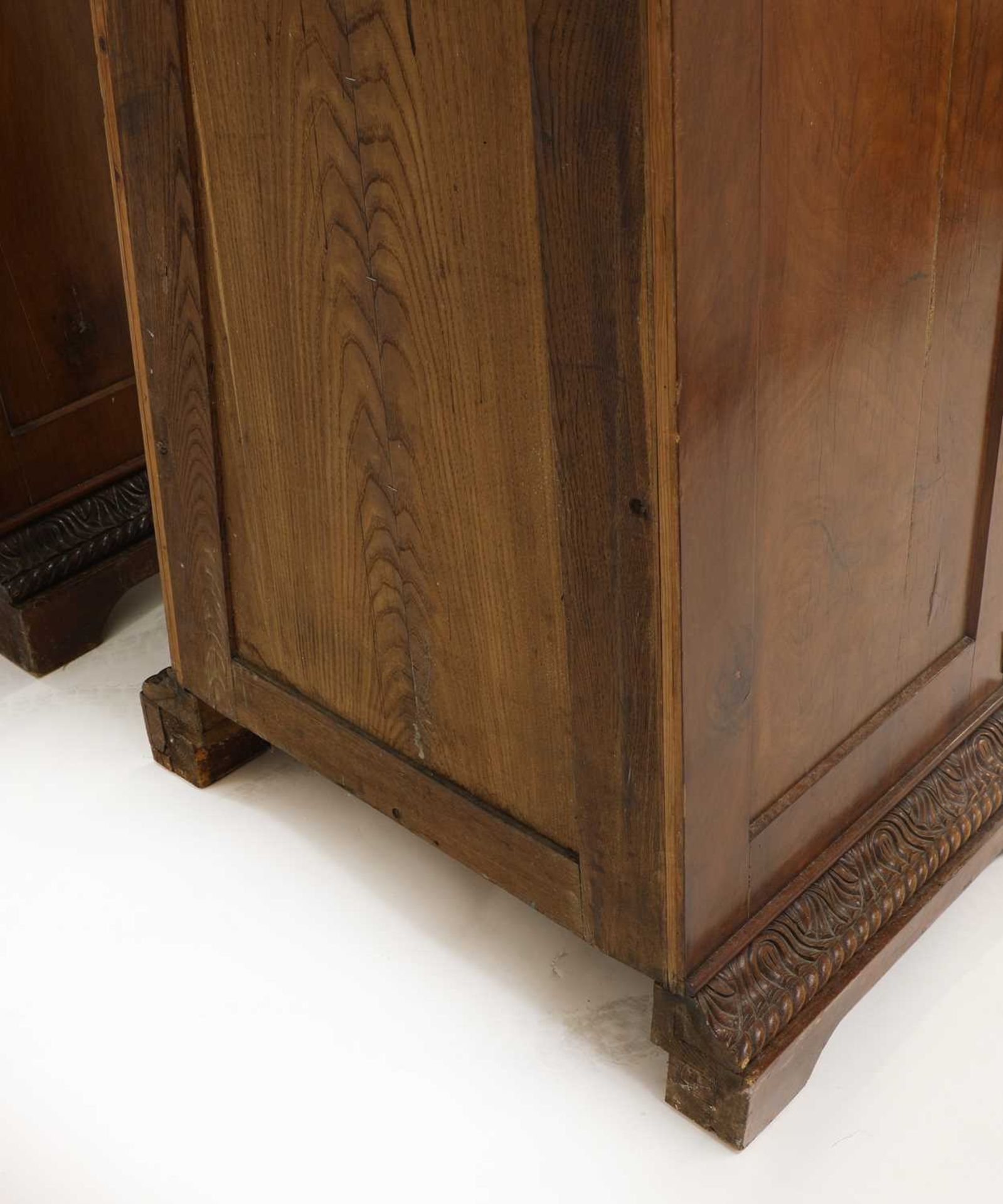 A pair of Victorian mahogany library bookcase pedestals, - Image 11 of 13