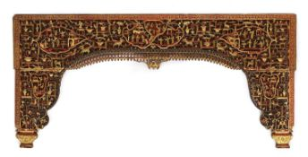 A Chinese bed panel,