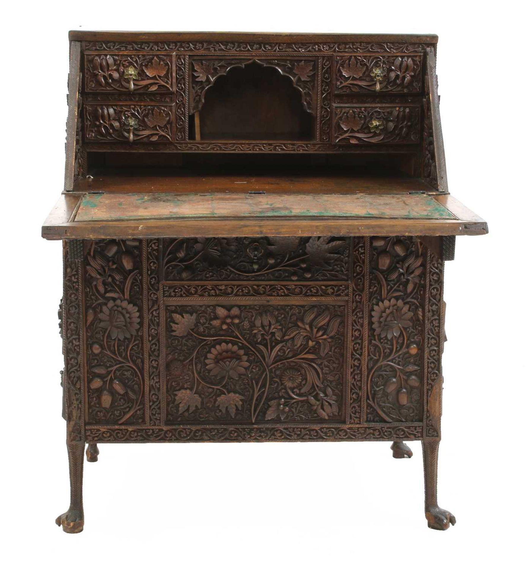 An Anglo-Indian rosewood bureau, - Image 3 of 10