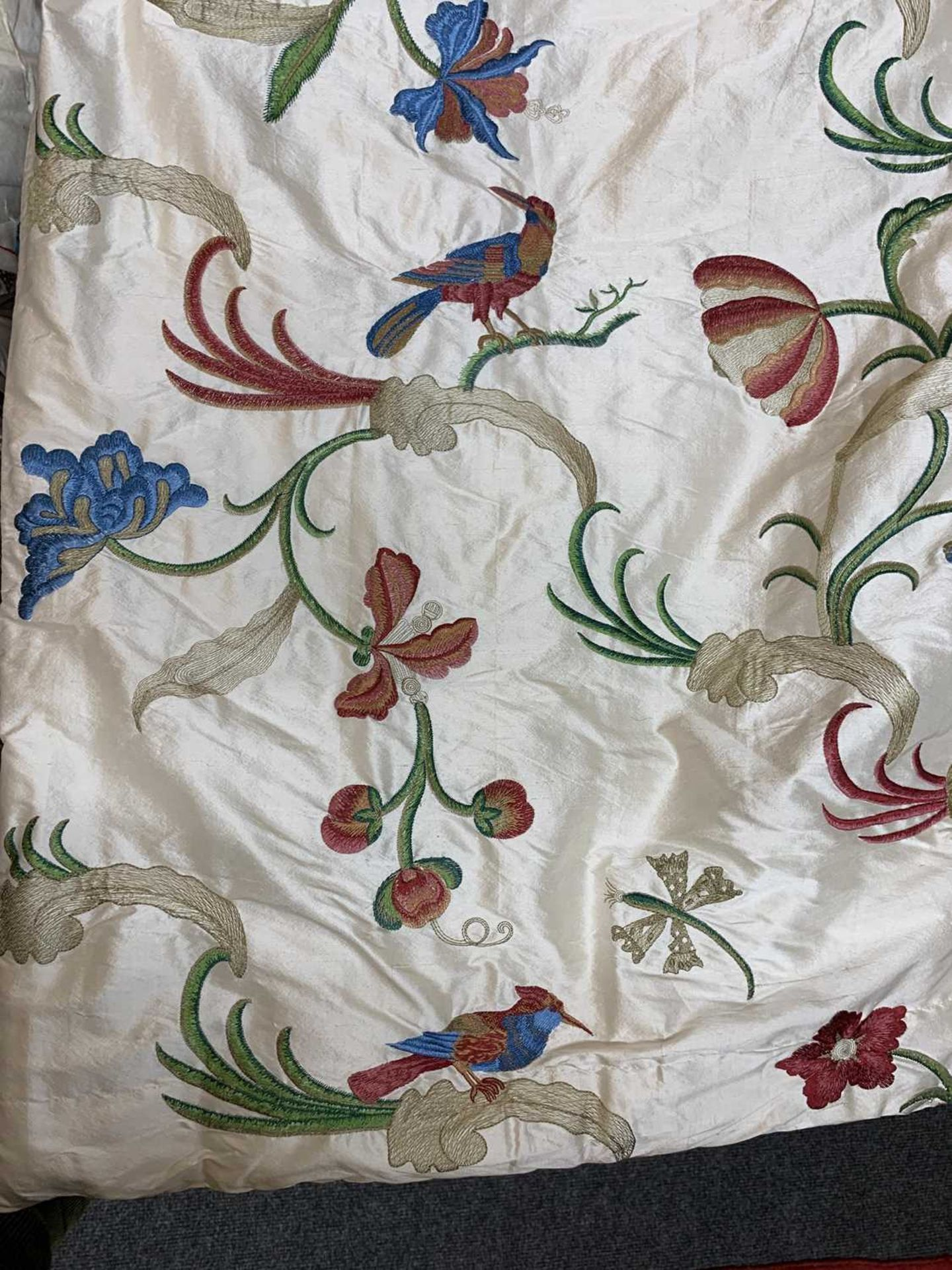 Three pairs of lined and interlined silk curtains, - Image 35 of 62