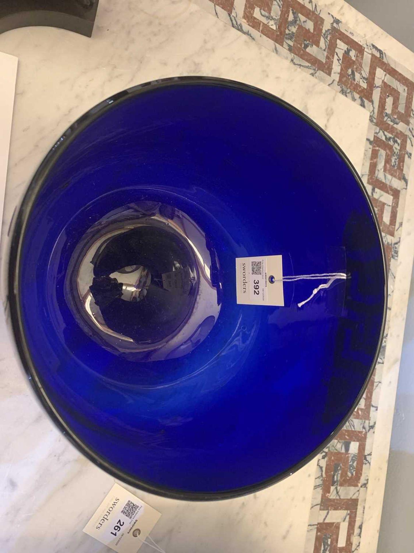 A large 'Bristol' blue glass bowl, - Image 5 of 5