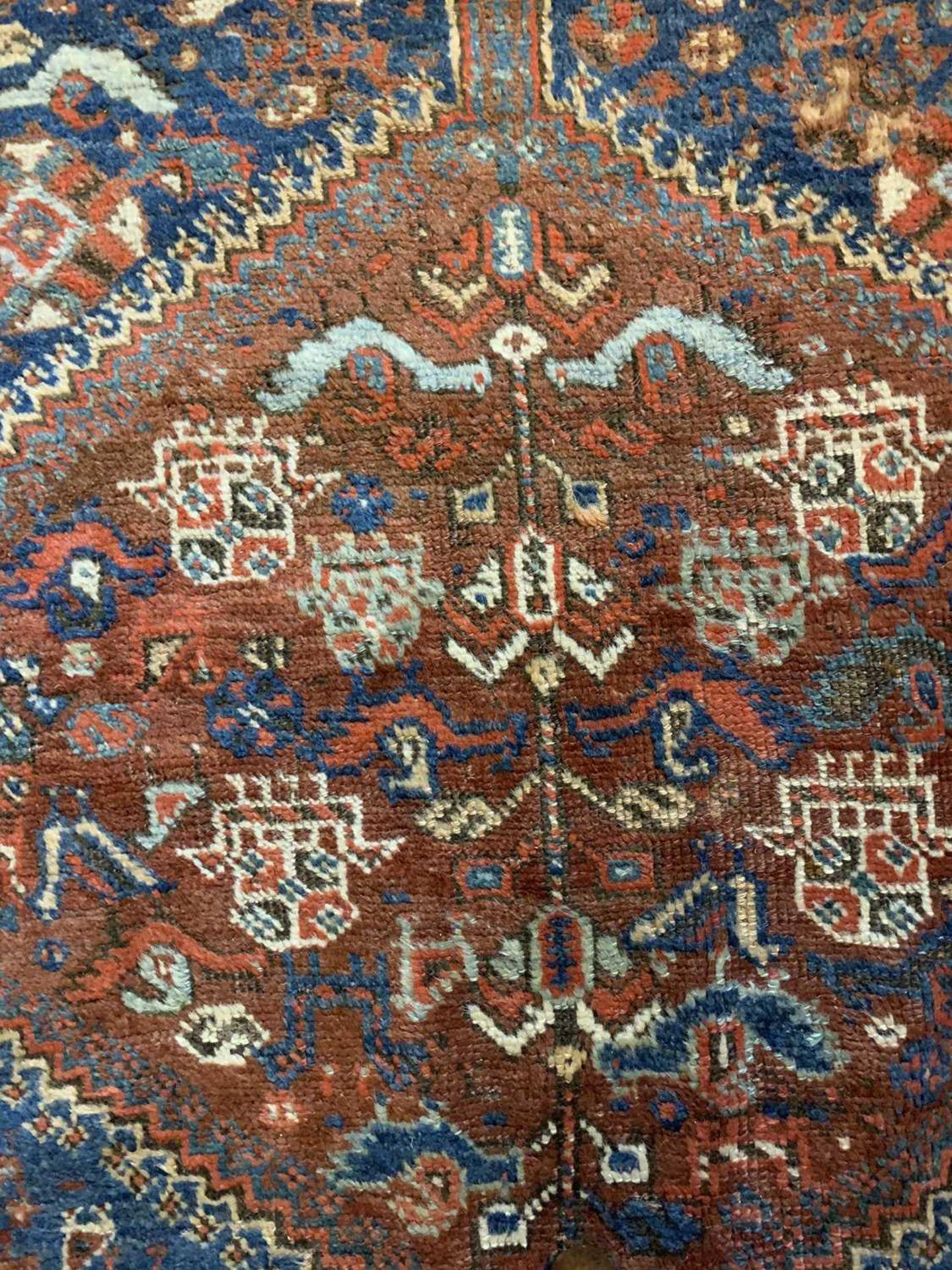 A Persian Khamseh carpet, - Image 9 of 15