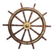 A massive Harland & Wolff ship's wheel,
