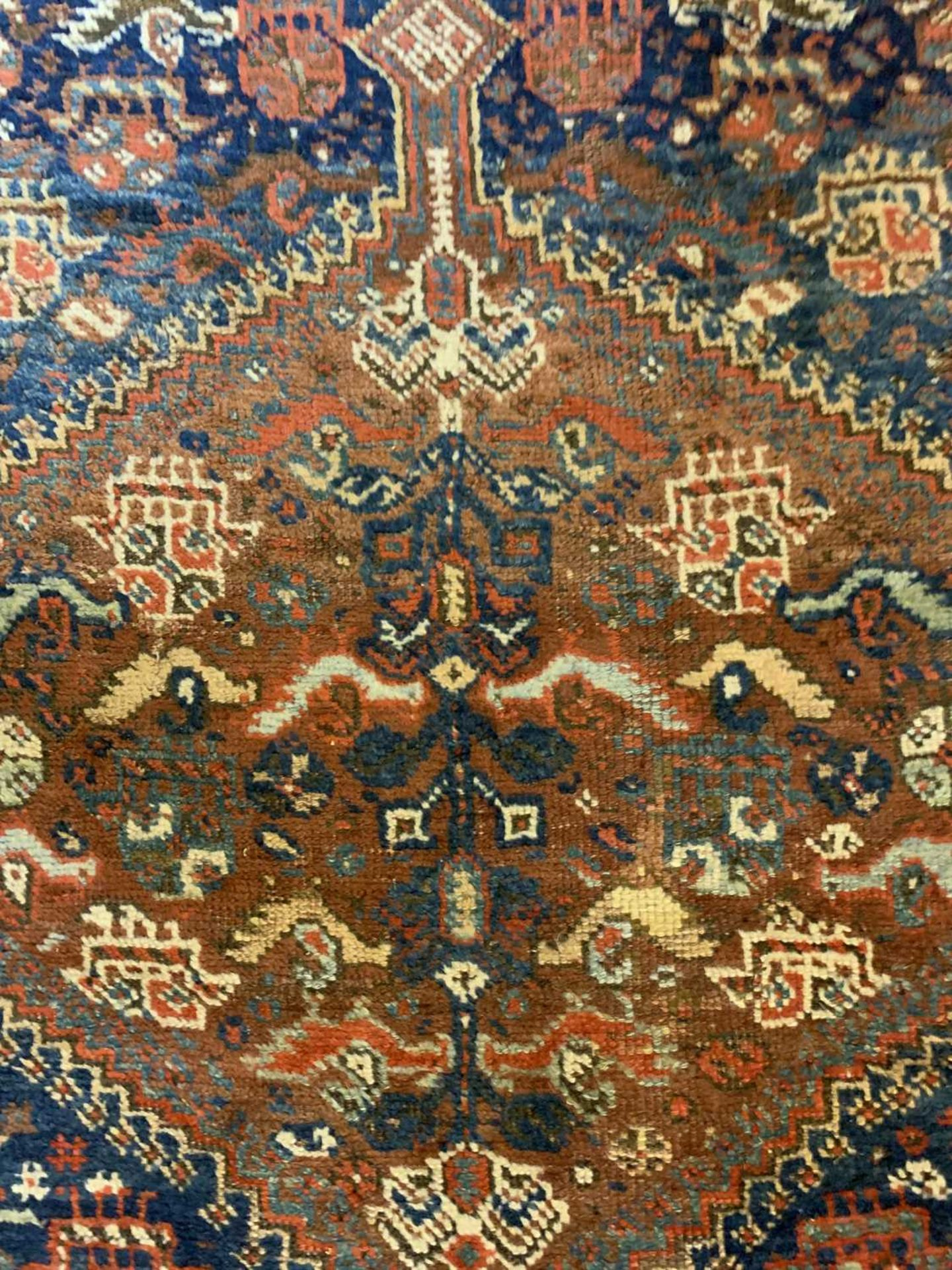 A Persian Khamseh carpet, - Image 14 of 15