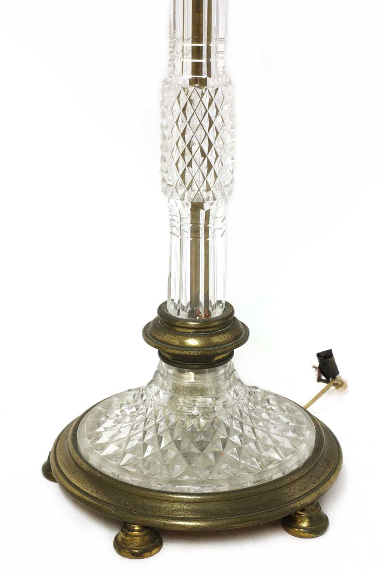 A pair of cut glass and gilt brass electric lamps, - Image 5 of 28